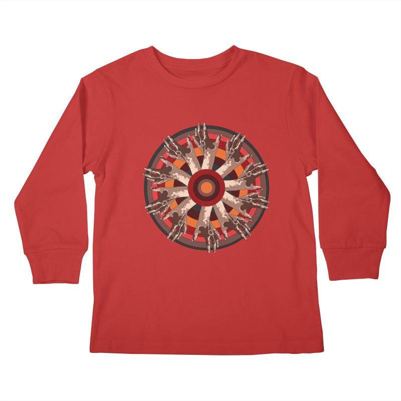 Mandala Hands Kids Longsleeve T-Shirt by Adrian Geary's Artist Shop
