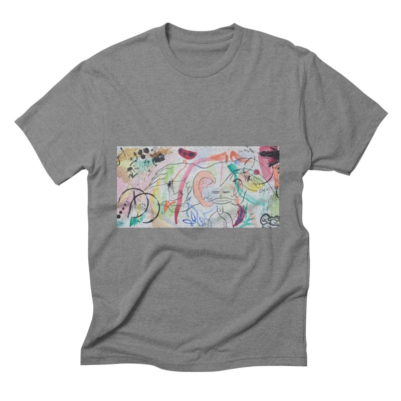 Ink Ear Men's Triblend T-Shirt by Adrian Geary's Artist Shop