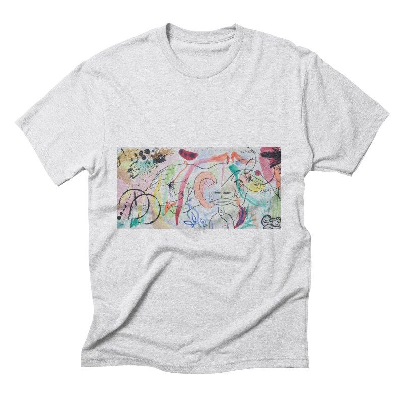 Ink Ear Men's Triblend T-Shirt by Adrian Geary's Artist Shop