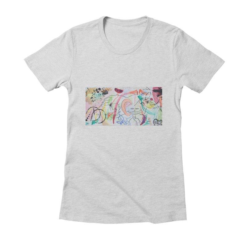 Ink Ear Women's Fitted T-Shirt by Adrian Geary's Artist Shop