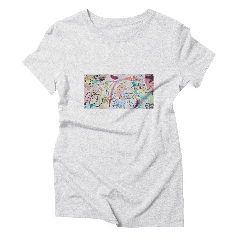Ink Ear Women's Triblend T-Shirt by Adrian Geary's Artist Shop