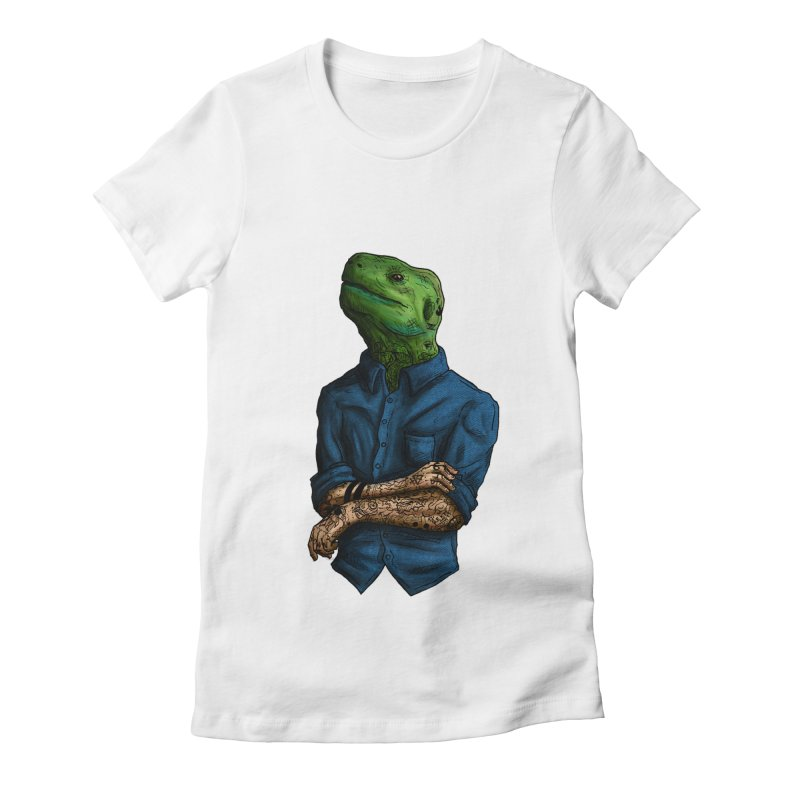 Inked scales Women's Fitted T-Shirt by adrianinked's Artist Shop