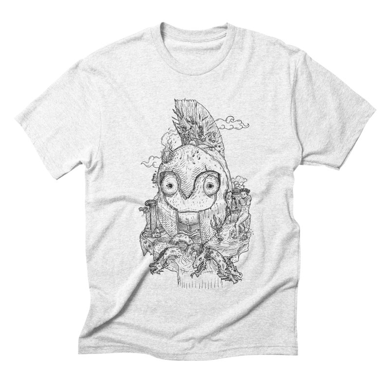 Chameleon Empire Men's Triblend T-shirt by adrianinked's Artist Shop