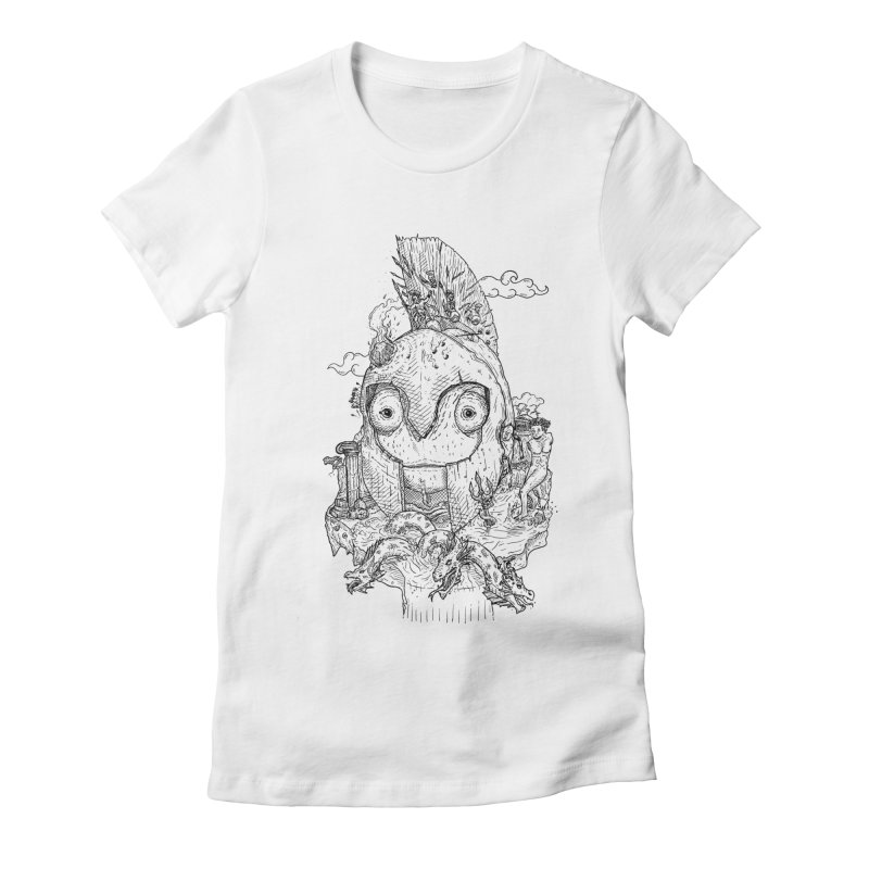 Chameleon Empire Women's Fitted T-Shirt by adrianinked's Artist Shop