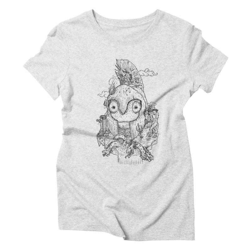 Chameleon Empire Women's Triblend T-Shirt by adrianinked's Artist Shop