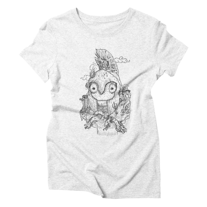 Chameleon Empire Women's Triblend T-shirt by adrianinked's Artist Shop