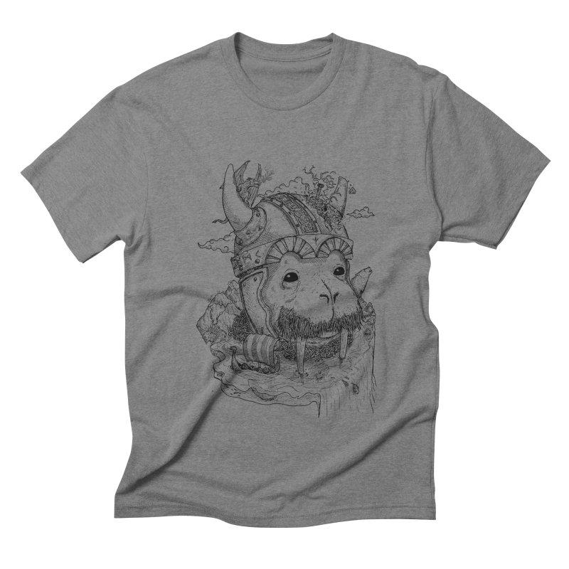 Walrus Saga Men's Triblend T-shirt by adrianinked's Artist Shop