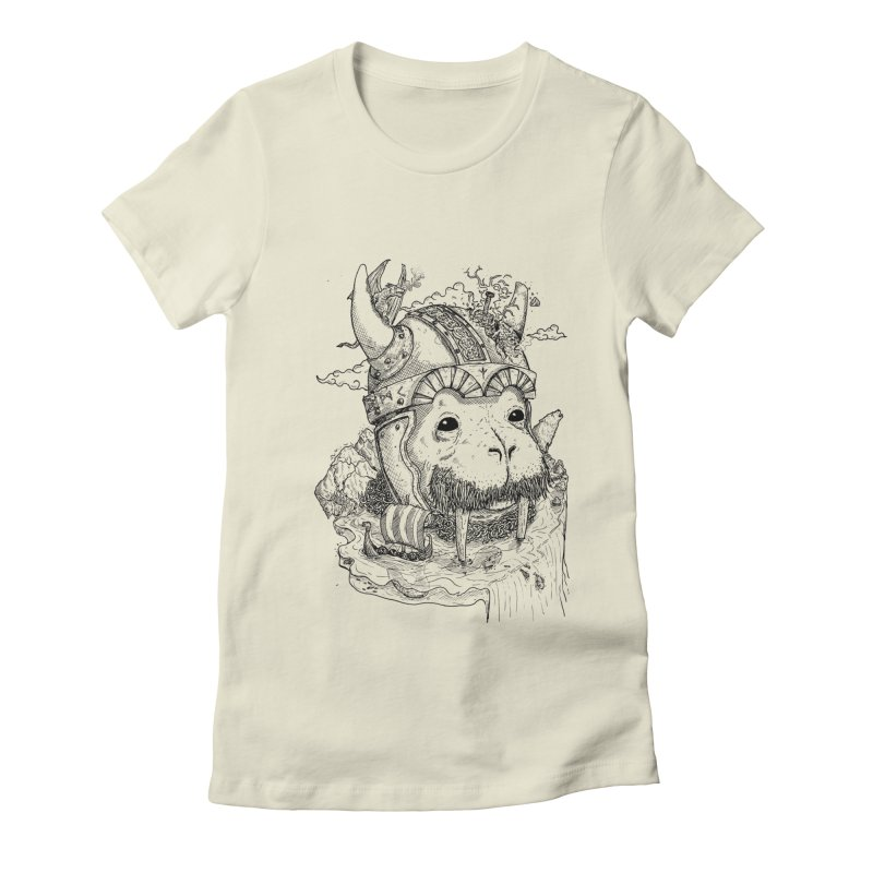 Walrus Saga Women's Fitted T-Shirt by adrianinked's Artist Shop