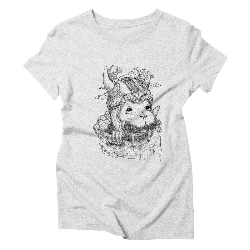 Walrus Saga Women's Triblend T-Shirt by adrianinked's Artist Shop