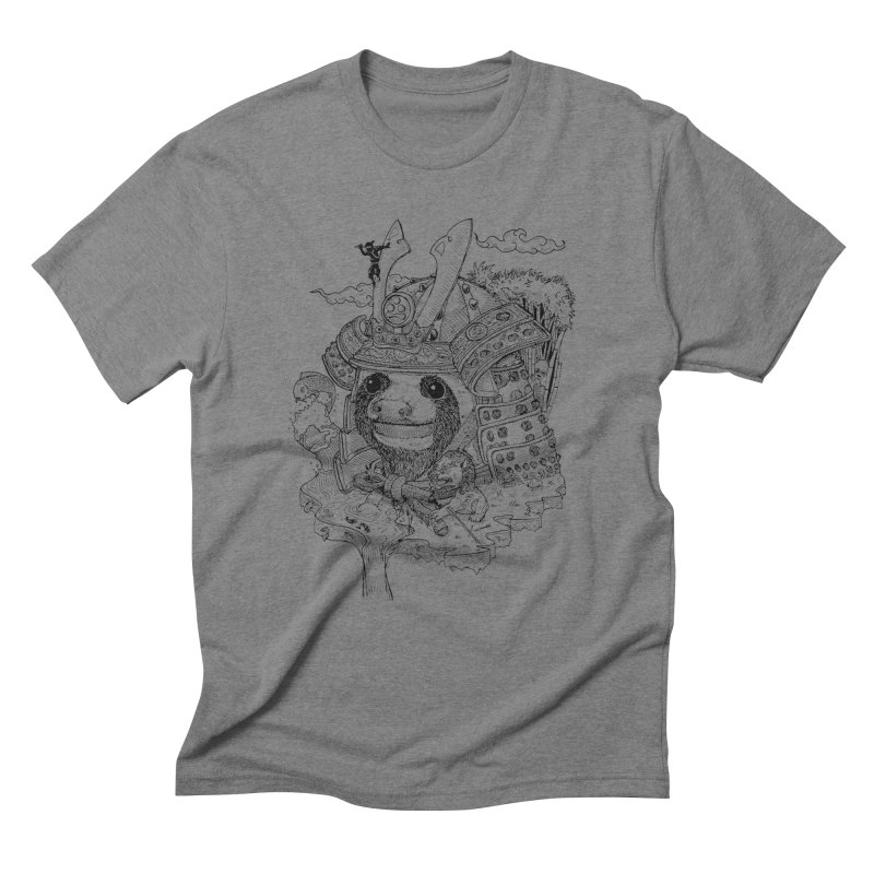 Sloth Dynasty  Men's Triblend T-Shirt by adrianinked's Artist Shop