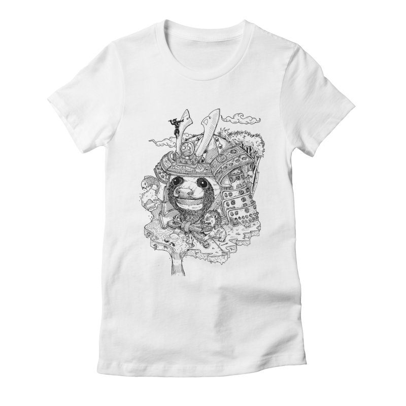 Sloth Dynasty  Women's Fitted T-Shirt by adrianinked's Artist Shop