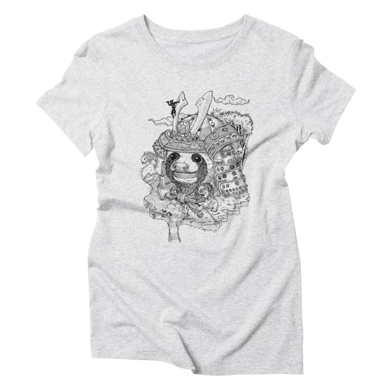 Sloth Dynasty  Women's Triblend T-Shirt by adrianinked's Artist Shop
