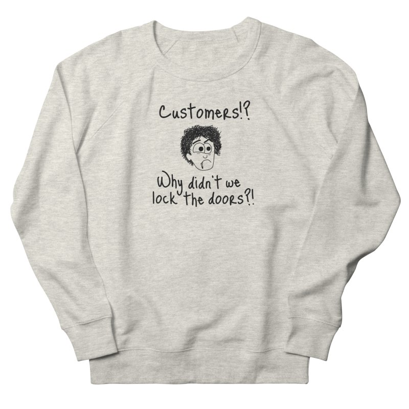 Black Books - Why didn't we lock the doors?! Men's Sweatshirt by Adrienne Body