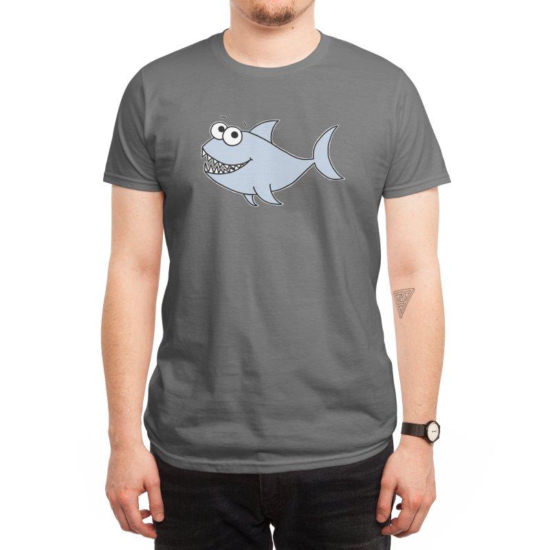 Cute Shark Men's T-Shirt by Adrienne Body