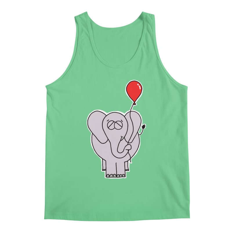 The Elephant and His Balloon Men's Tank by Adrienne Body