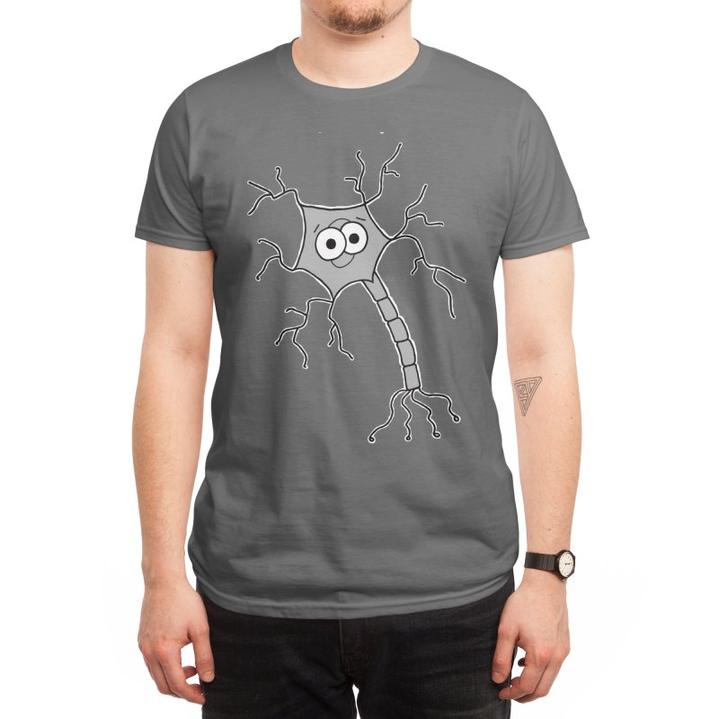 Cute Neuron Men's T-Shirt by Adrienne Body