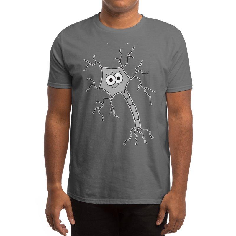Cute Neuron Men's T-Shirt by Adrienne Body