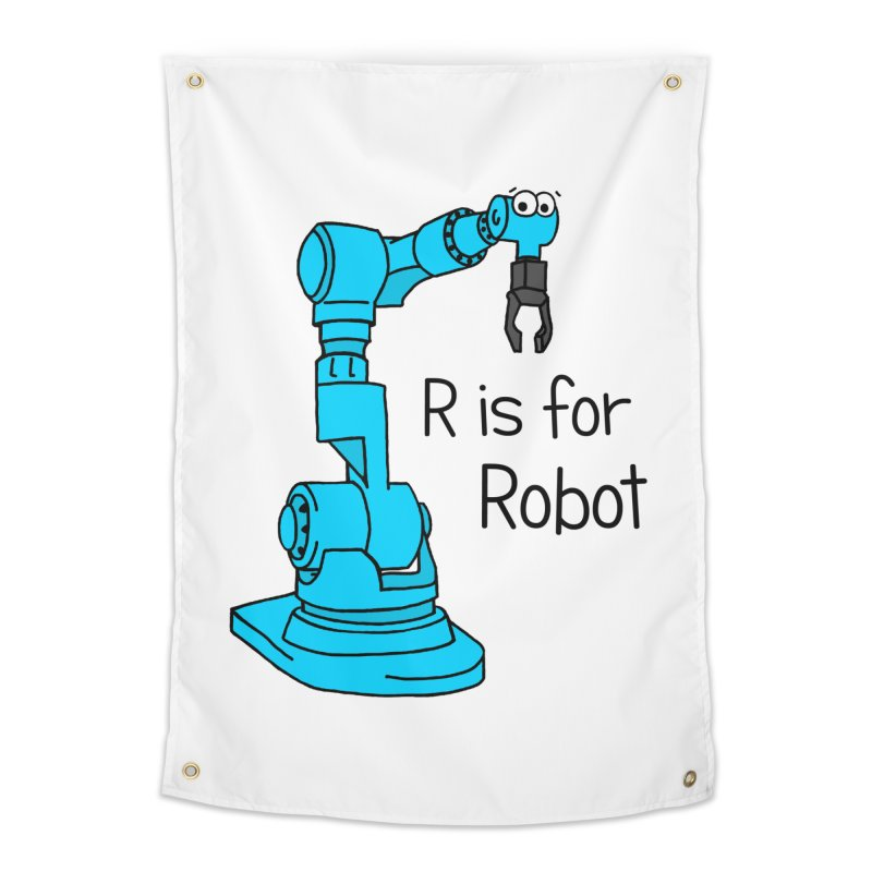 R is for Robot Home Tapestry by Adrienne Body