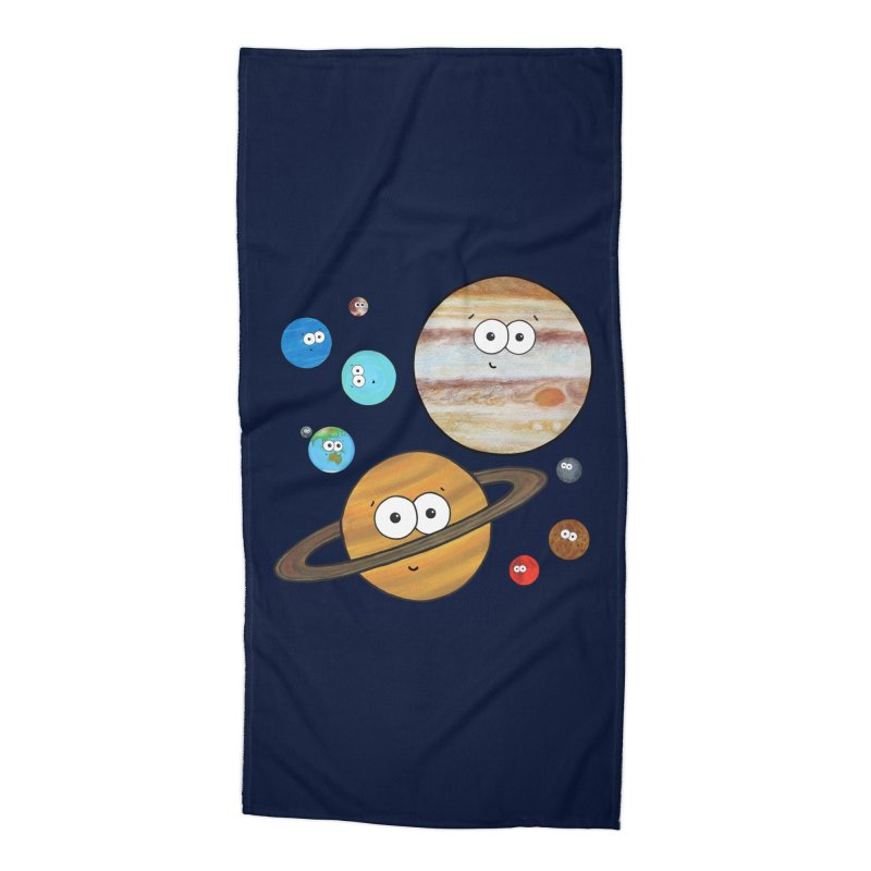 Cute Planets Accessories Beach Towel by Adrienne Body