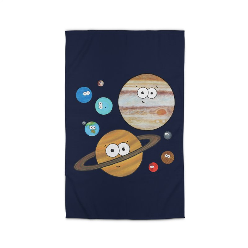 Cute Planets Home Rug by Adrienne Body