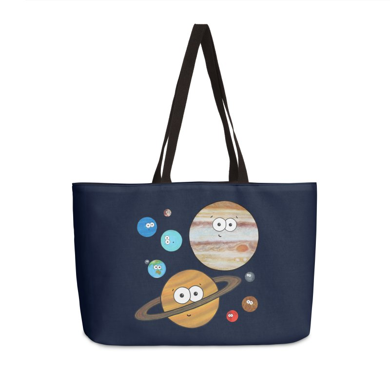 Cute Planets Accessories Weekender Bag Bag by Adrienne Body