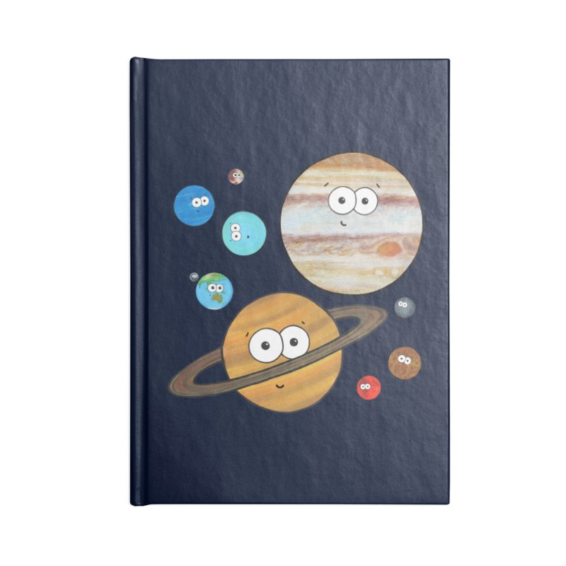 Cute Planets Accessories Lined Journal Notebook by Adrienne Body