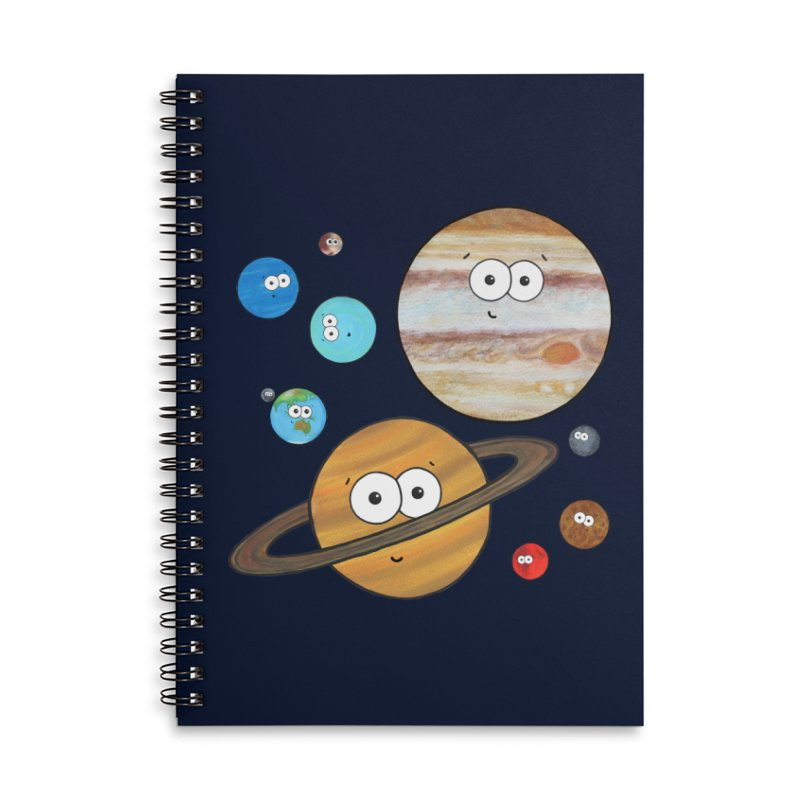 Cute Planets Accessories Lined Spiral Notebook by Adrienne Body