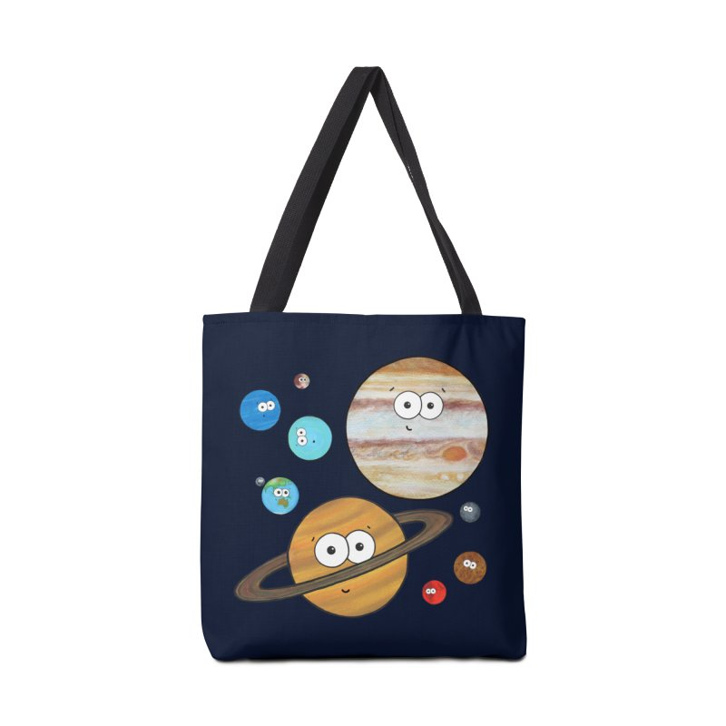 Cute Planets Accessories Tote Bag Bag by Adrienne Body