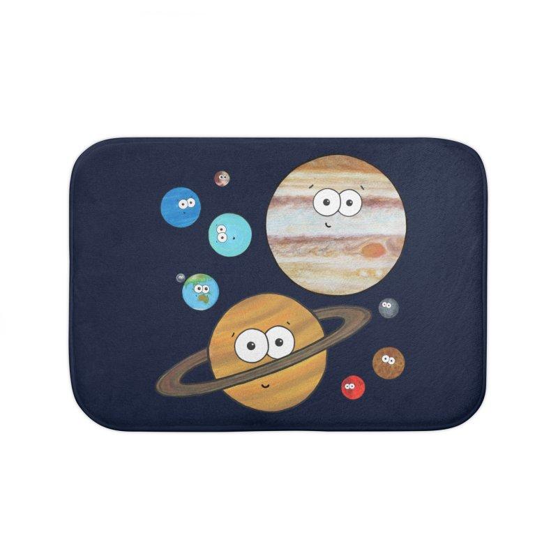 Cute Planets Home Bath Mat by Adrienne Body