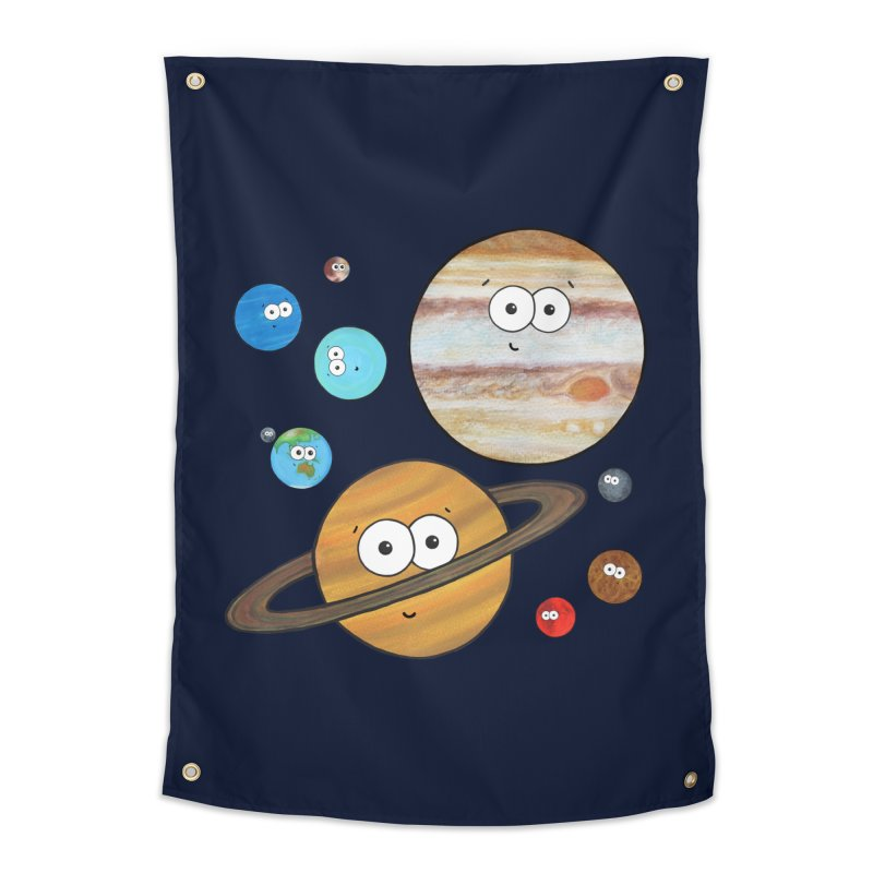 Cute Planets Home Tapestry by Adrienne Body
