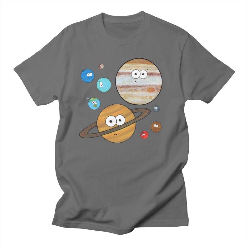 Cute Planets Men's T-Shirt by Adrienne Body