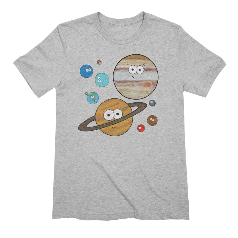 Cute Planets Men's Extra Soft T-Shirt by Adrienne Body