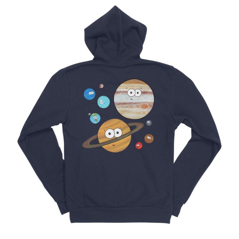 Cute Planets Men's Sponge Fleece Zip-Up Hoody by Adrienne Body