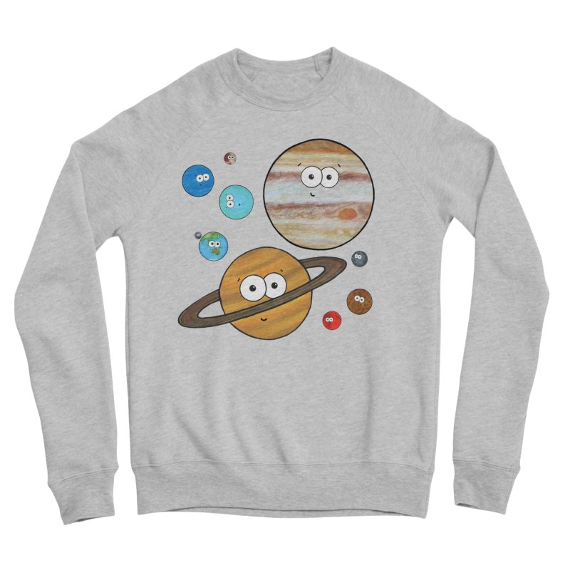 Cute Planets Men's Sponge Fleece Sweatshirt by Adrienne Body