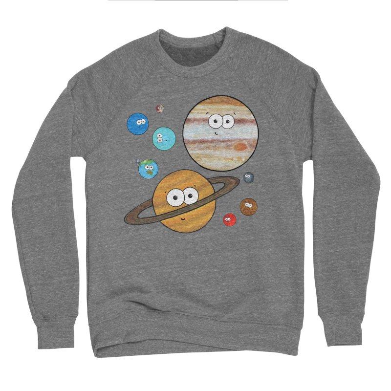 Cute Planets Men's Sponge Fleece Sweatshirt by Adrienne Body