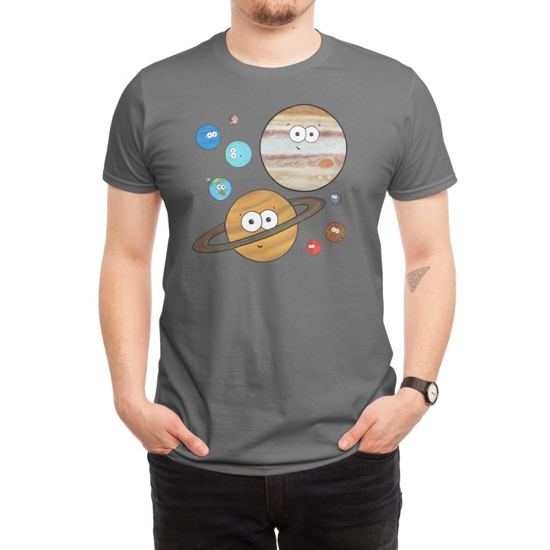 Cute Planets Men's T-Shirt by Adrienne Body