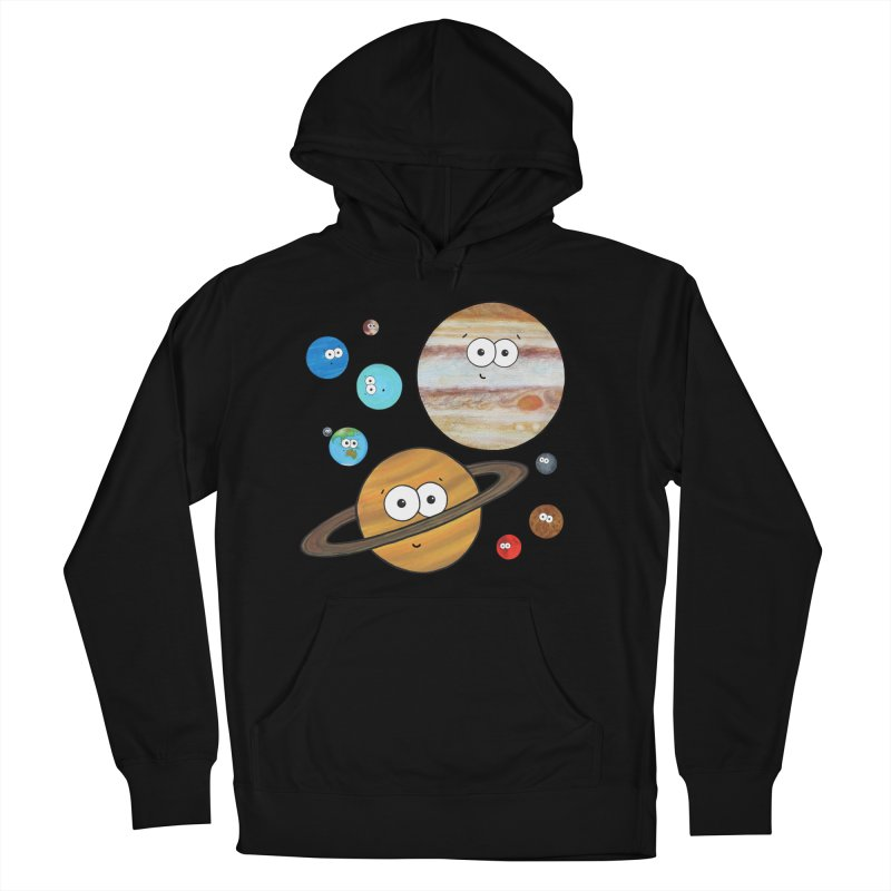 Cute Planets Men's French Terry Pullover Hoody by Adrienne Body