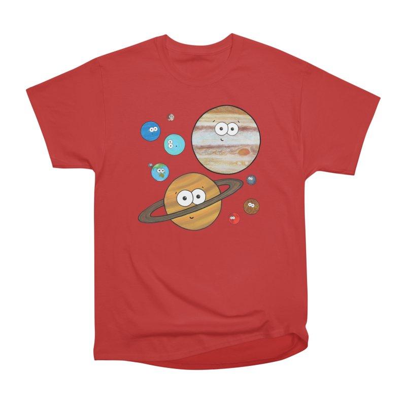 Cute Planets Men's Heavyweight T-Shirt by Adrienne Body
