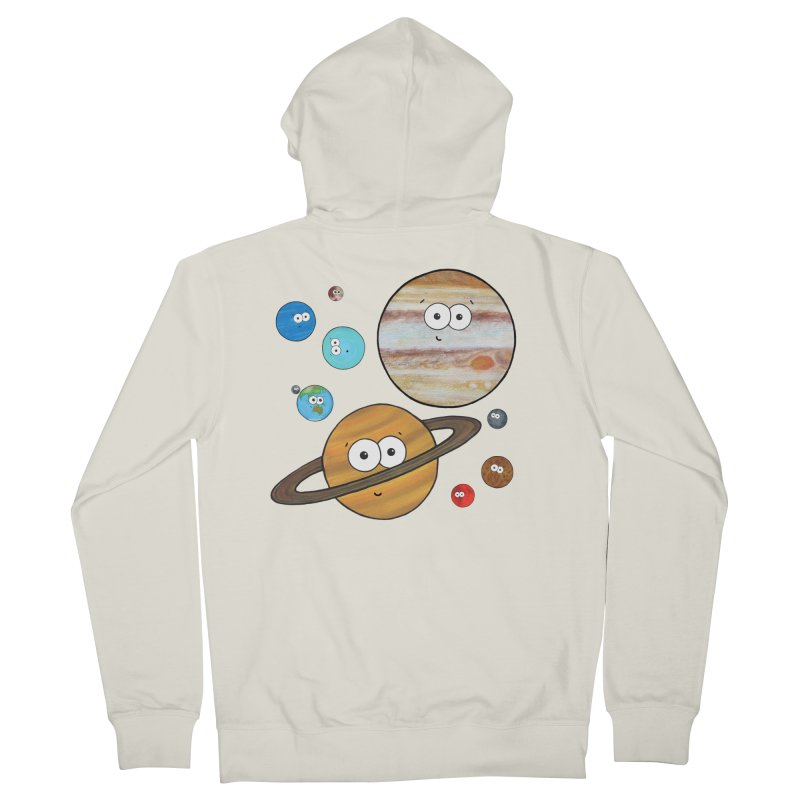 Cute Planets Women's French Terry Zip-Up Hoody by Adrienne Body