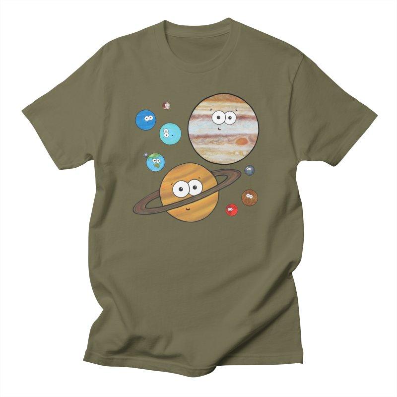 Cute Planets Women's Regular Unisex T-Shirt by Adrienne Body
