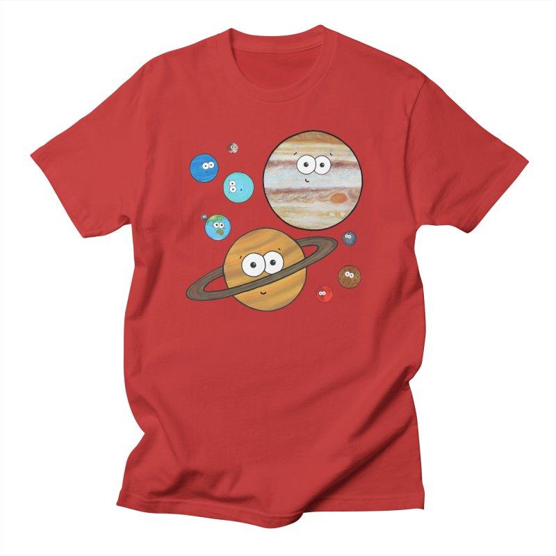 Cute Planets Men's Regular T-Shirt by Adrienne Body