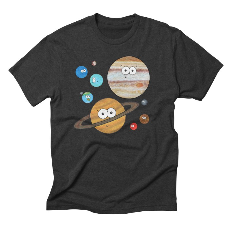 Cute Planets Men's Triblend T-Shirt by Adrienne Body
