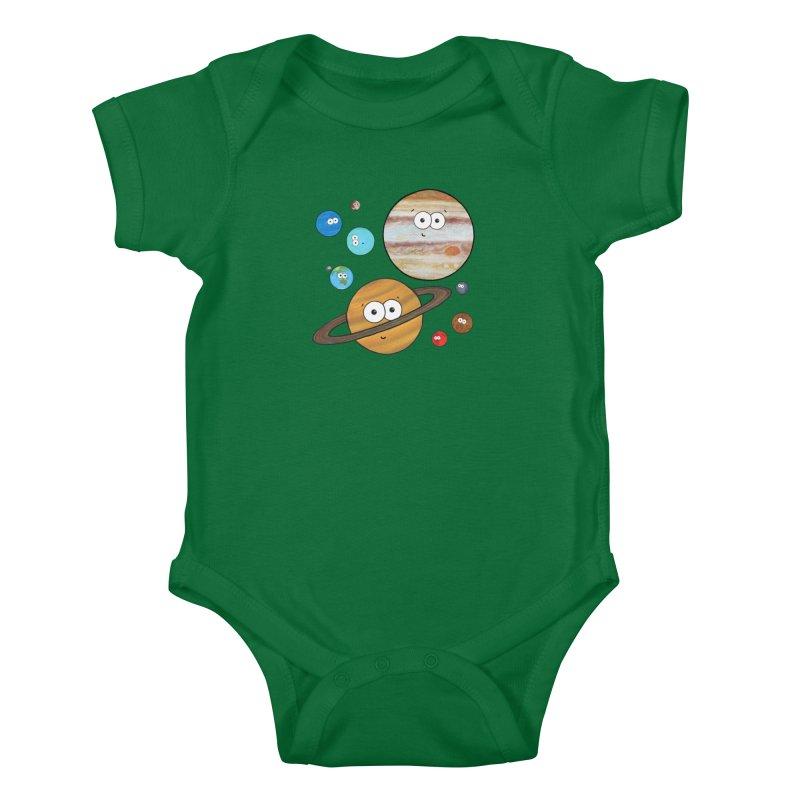 Cute Planets Kids Baby Bodysuit by Adrienne Body