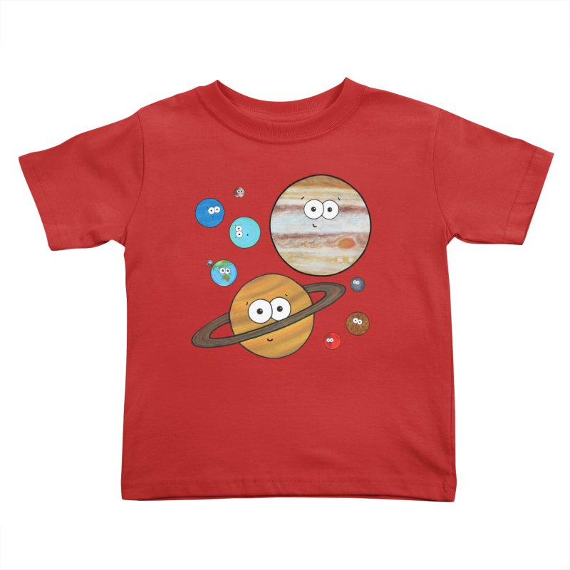 Cute Planets Kids Toddler T-Shirt by Adrienne Body
