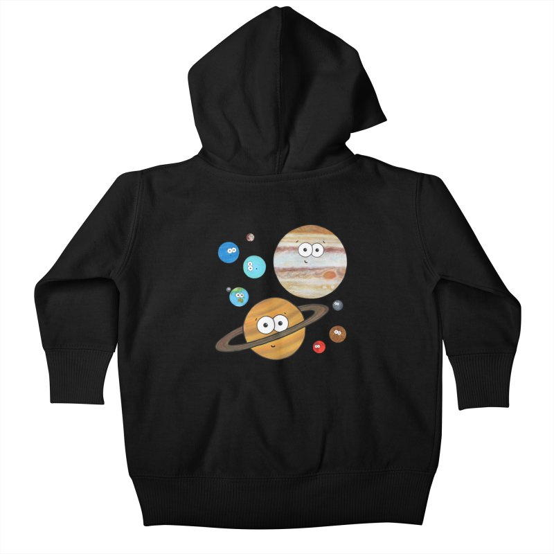 Cute Planets Kids Baby Zip-Up Hoody by Adrienne Body