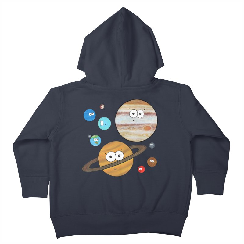 Cute Planets Kids Toddler Zip-Up Hoody by Adrienne Body
