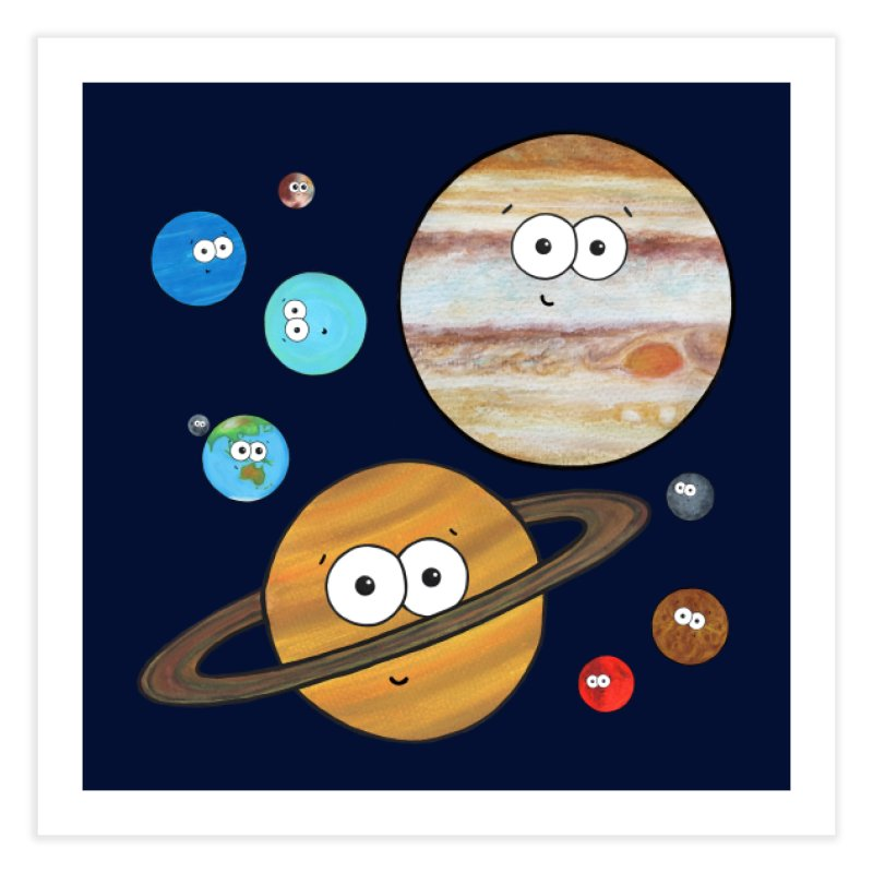 Cute Planets Home Fine Art Print by Adrienne Body