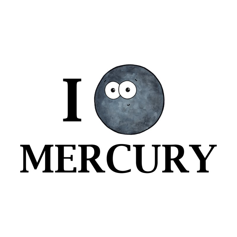 I Heart Mercury Men's T-Shirt by Adrienne Body