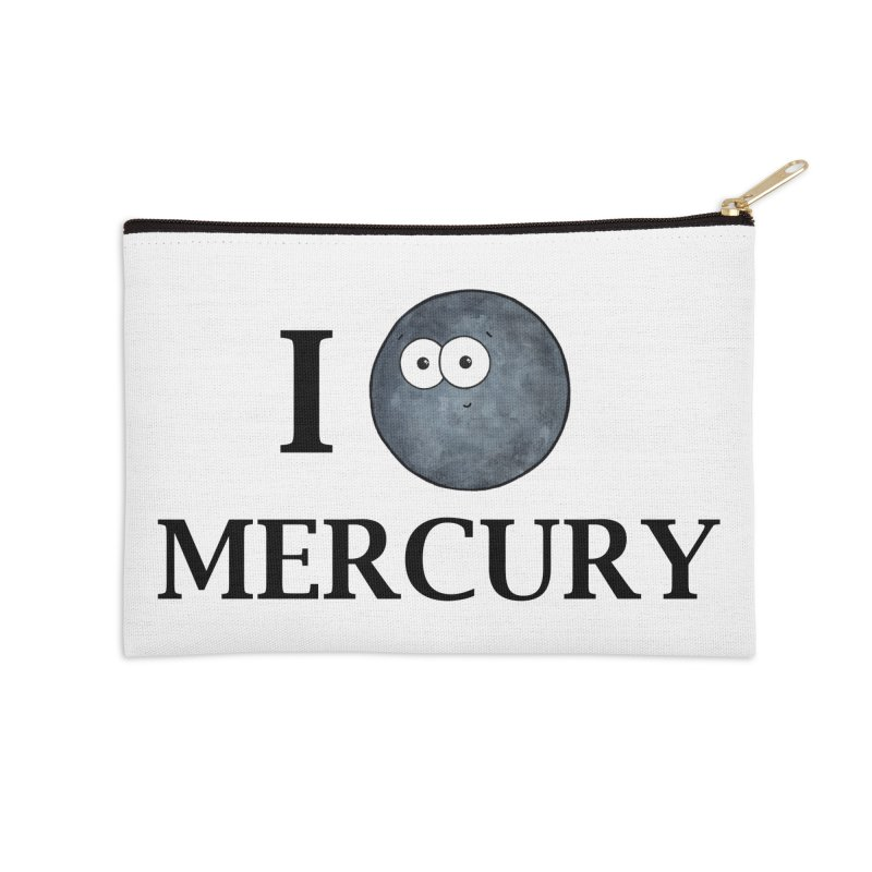 I Heart Mercury Accessories Zip Pouch by Adrienne Body