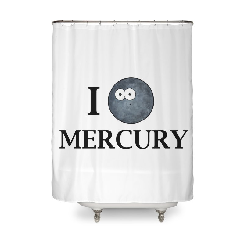 I Heart Mercury Home Shower Curtain by Adrienne Body